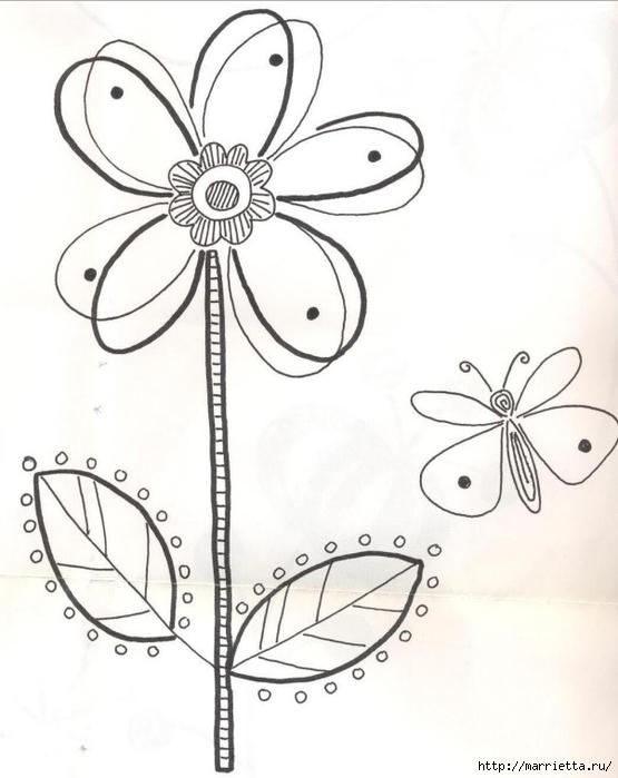 Подушки из мешковины и бархата с цветочной вышивкой (3) (555x700, 171Kb)