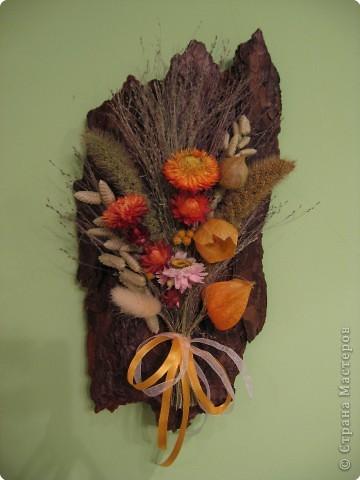 Картина из сухоцветов своими руками