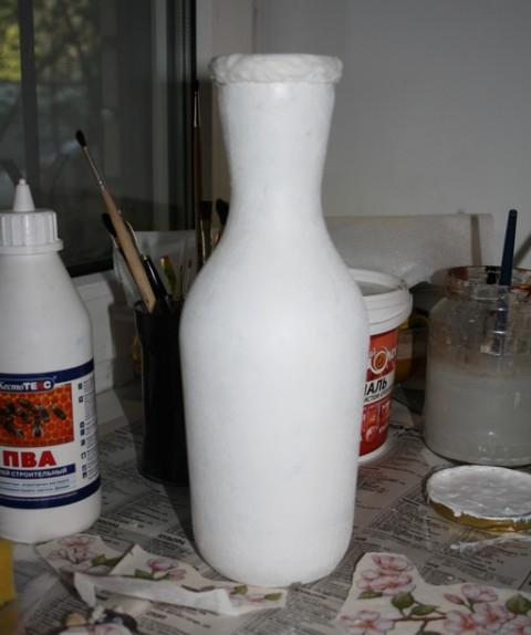 Яичное кракле. Ваза из бутылки. Мастер-класс (5) (480x574, 138Kb)