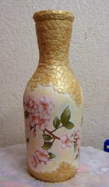 Яичное кракле. Ваза из бутылки. Мастер-класс (7) (372x640, 196Kb)