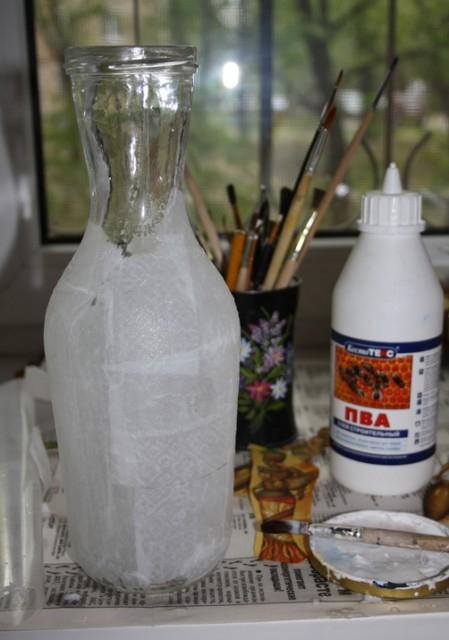 Яичное кракле. Ваза из бутылки. Мастер-класс (9) (449x640, 183Kb)