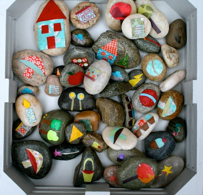 Рисунки на камнях материал