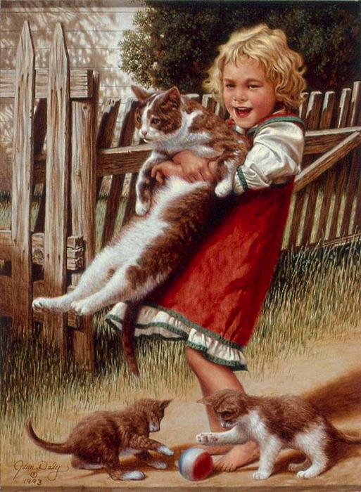 Люди и животные открытки