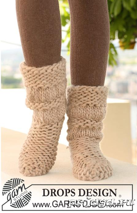 Как вяжут носки на 2 спицах