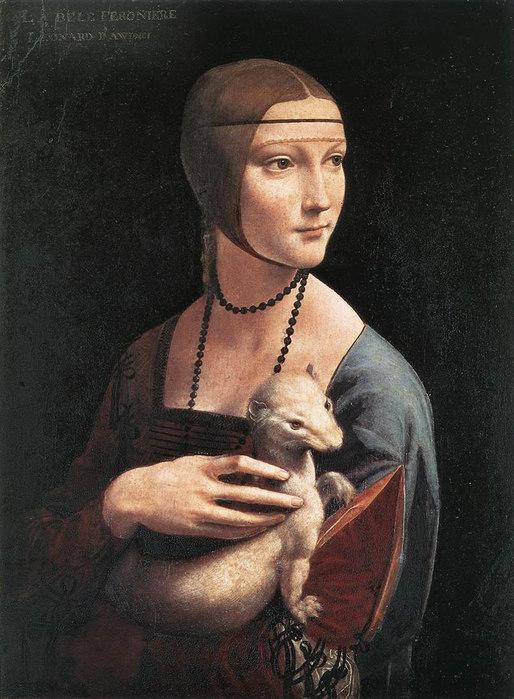 леонардо-дама с горностаем (514x700, 96Kb)