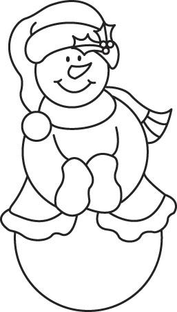 Trafaret-malenkij-snegovik (257x451, 56Kb)