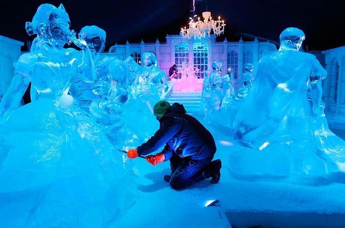 Фестиваль ледяной скульптуры в Брюгге