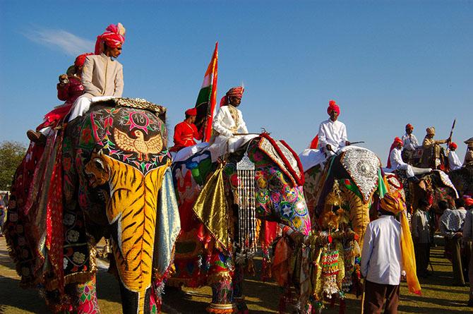 парад слонов джайпур (670x445, 355Kb)