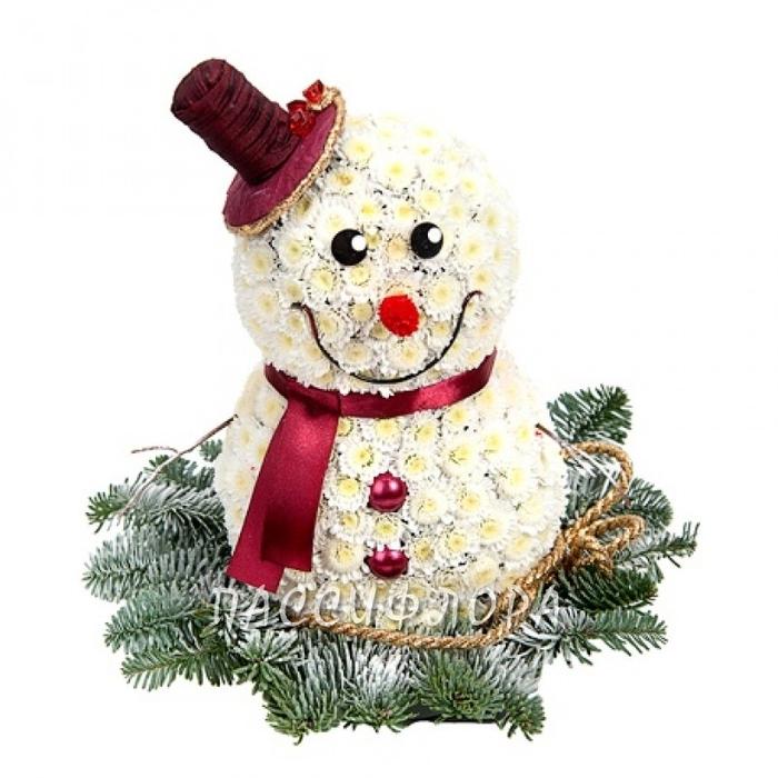 снеговик из цветов (1) (700x700, 223Kb)