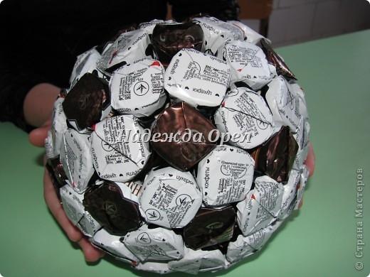 Как сделать футбольный мяч из конфет своими руками