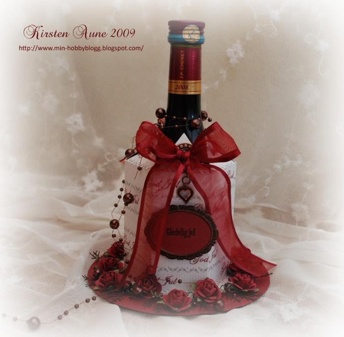 Подарочная упаковка для бутылки. Скрапбукинг (3) (700x684, 259Kb)