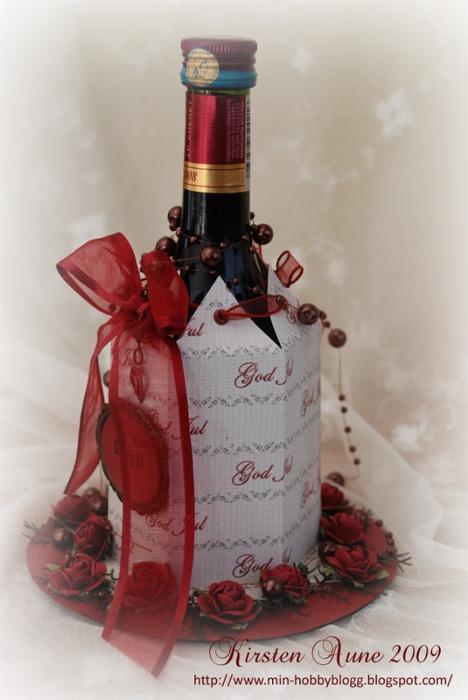 Подарочная упаковка для бутылки. Скрапбукинг (5) (468x700, 191Kb)