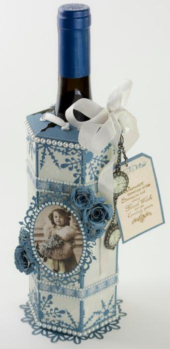 Подарочная упаковка для бутылки. Скрапбукинг (7) (342x700, 127Kb)