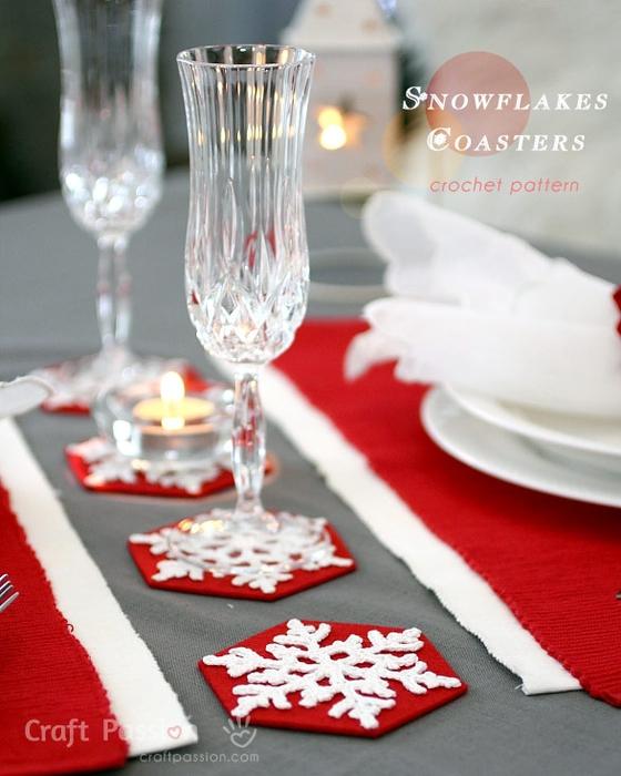 Снежинки крючком для праздничной сервировки стола (1) (560x700, 245Kb)