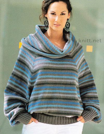 vyazanyj-pulover-iz-raznocvetnoj-pryazhi (400x514, 67Kb)