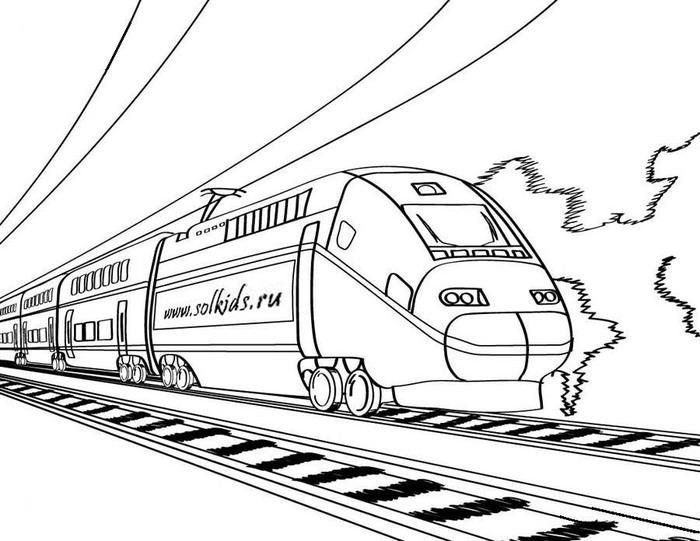 Раскраски про поезда