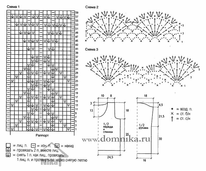 Отделка горловины крючком вязаных изделий схемы6