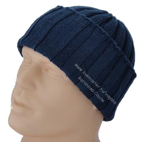 шапка с отворотом мужская  (480x479, 108Kb)
