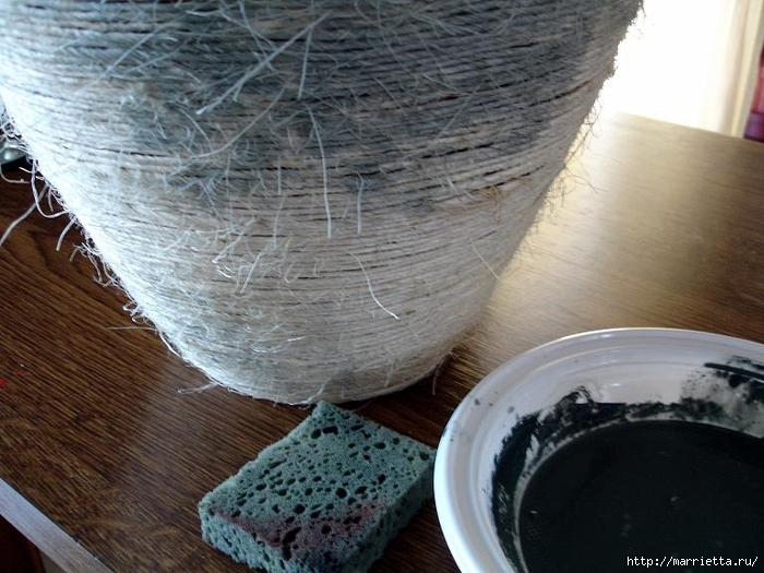 Как сделать вазу папье маше своими руками
