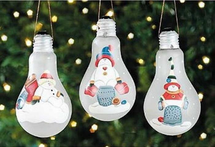 Игрушки из лампочек своими руками на новый год