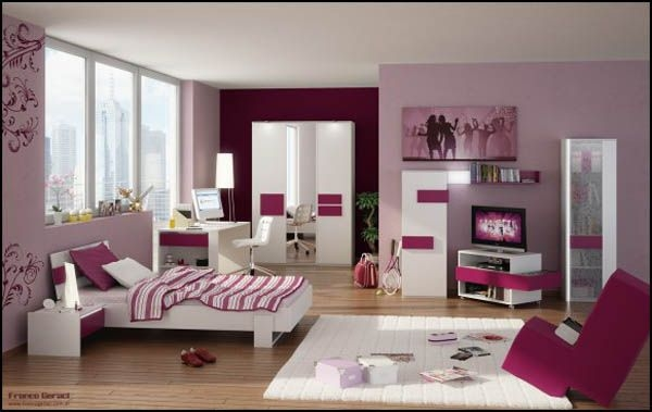 Дизайн интерьера. Комната для девочки-подростка (2) (600x379, 97Kb)