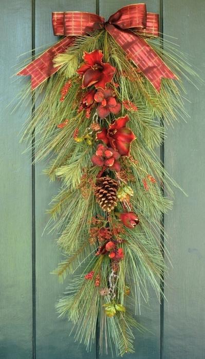 Рождественский венок своими руками (8) (399x700, 239Kb)