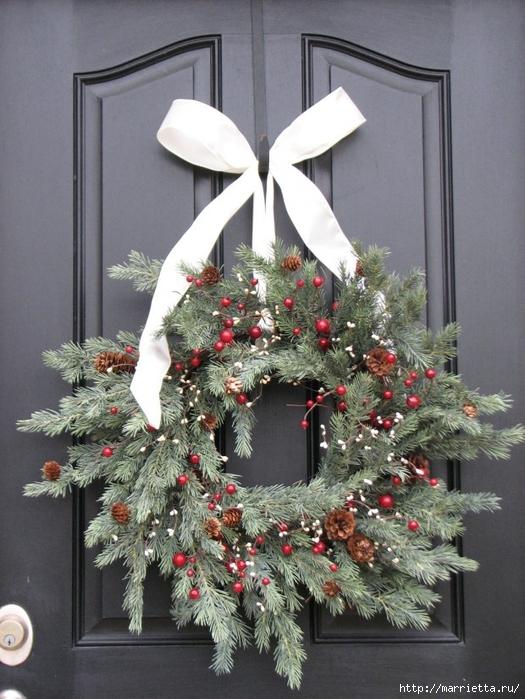 Рождественский венок своими руками (9) (525x700, 296Kb)