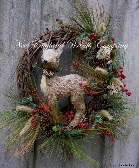 Рождественский венок своими руками (11) (577x700, 411Kb)