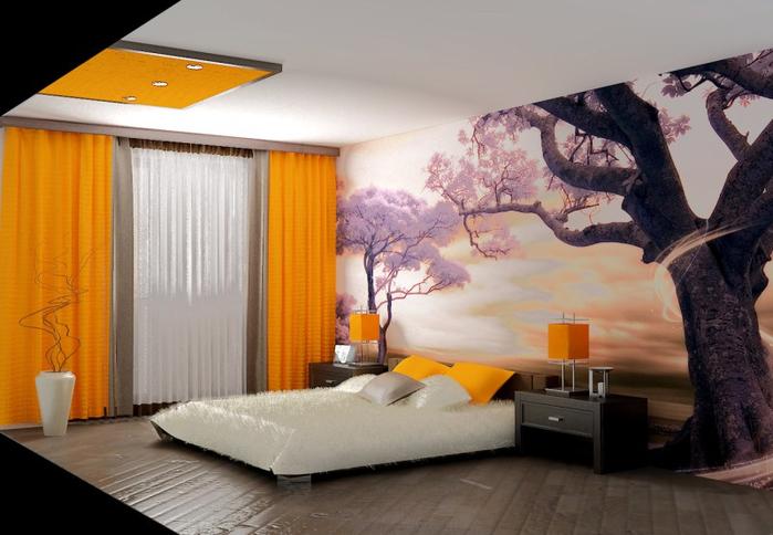 красивый дизайн спальни 11 (700x484, 301Kb)
