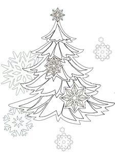 Раскраски елка снежинка