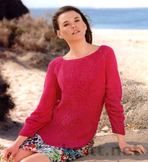 pulover-s-luchami-iz-centra-spicami (480x525, 60Kb)