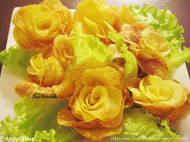 картофельные розочки рецепт и фото