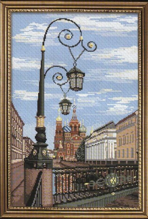 Вышивка крестом схема виды петербурга