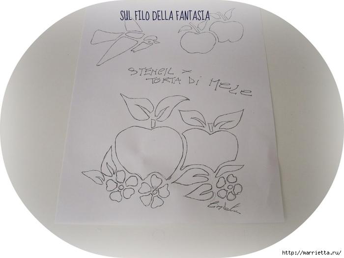 Яблочный пирог. Простой рецепт, но очень оригинальное оформление (5) (700x525, 176Kb)