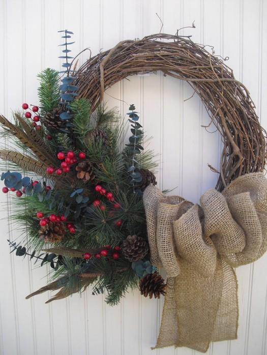 Венки рождественские своими руками фото