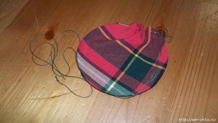 Текстильный елочный шар в технике йо-йо. Мастер-класс (6) (700x393, 206Kb)
