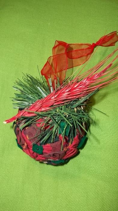 Текстильный елочный шар в технике йо-йо. Мастер-класс (23) (393x700, 231Kb)