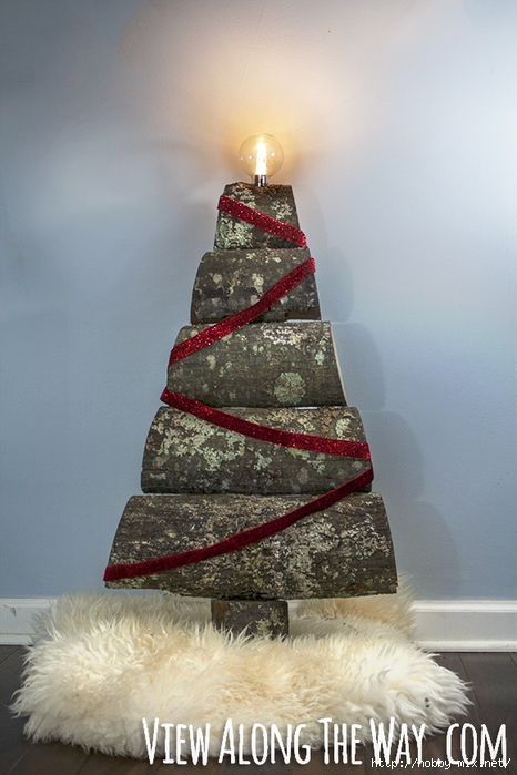 DIY_advent_tree_from_split_logs (466x700, 241Kb)