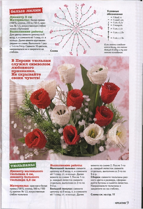 Вязаные цветы журнал (9) (479x700, 304Kb)