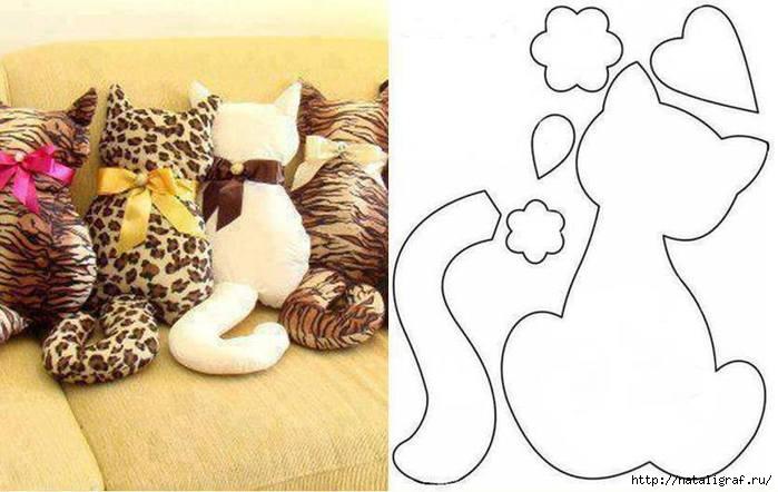 Подушка кота своими руками