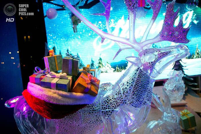 рождественские витрины фото 3 (700x466, 574Kb)