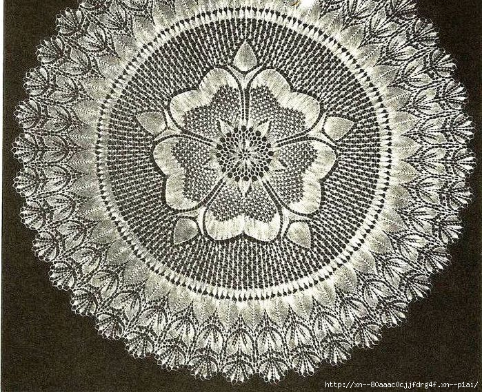 Салфеточка спицами: в коллекцию идей для шали