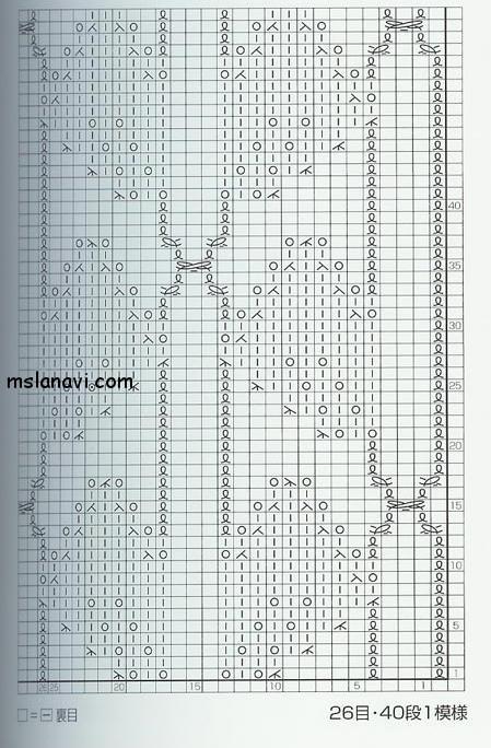 Ажурный узор спицами №45