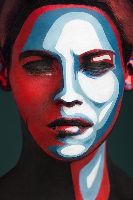 боди арт на лице фото 2 (466x700, 224Kb)