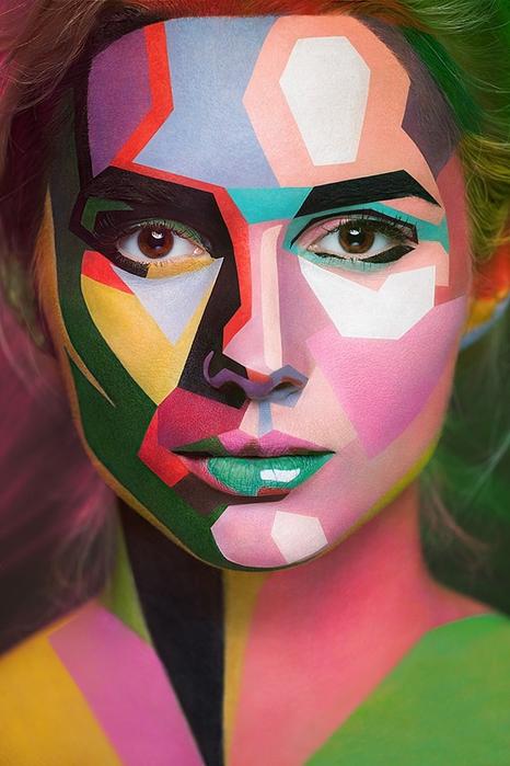 боди арт на лице фото 4 (466x700, 239Kb)