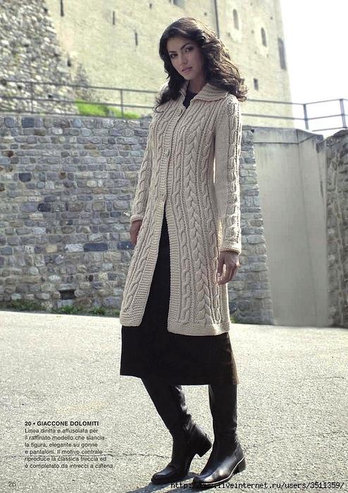 пальто с аранами спицами (1) (494x699, 290Kb)