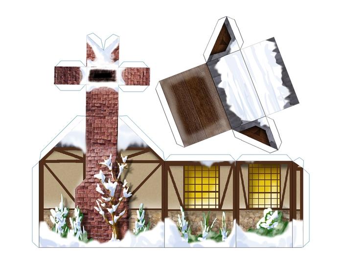 Поделки из картона своими руками схемы домики