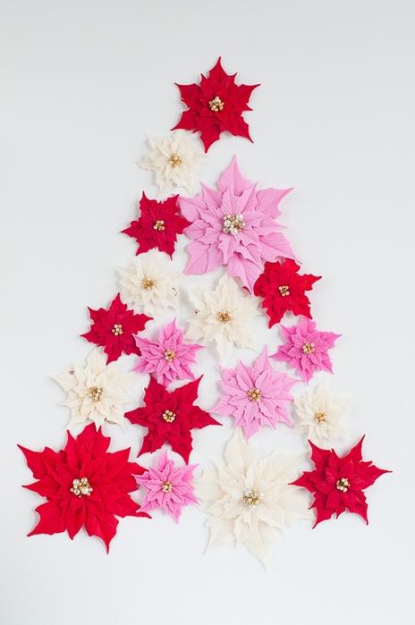 Poinsettia.  Ideas y clase magistral sobre la escultura de la estrella de Navidad (15) (464x700, 174Kb)