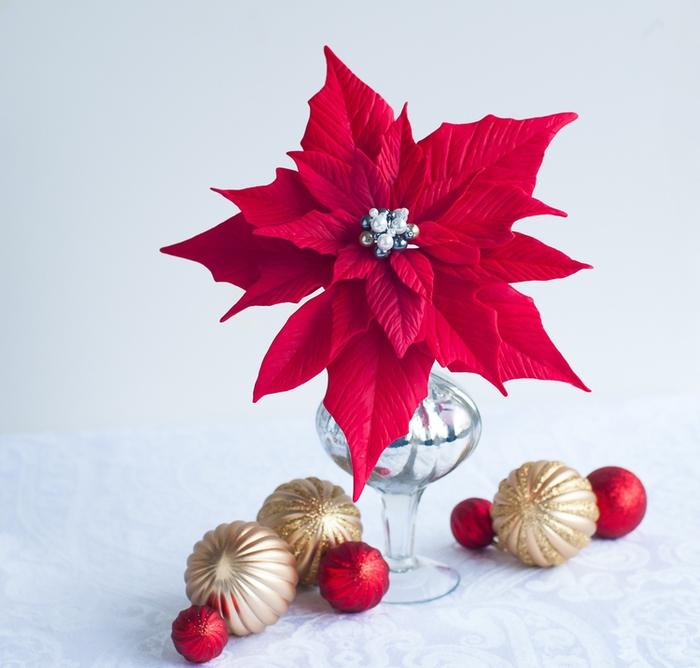 Poinsettia.  Ideas y clase magistral sobre la escultura de la estrella de Navidad (20) (700x668, 239Kb)