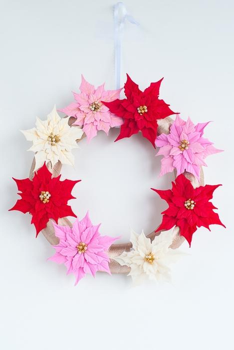 Poinsettia.  Ideas y clase magistral sobre la escultura de la estrella de Navidad (29) (469x700, 163Kb)
